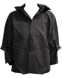 132 5. Issey Miyake Origami Black Shirt Jacket