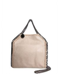 Stella McCartney - Women's 391698w91329300 Beige Polyester Handbag - Lyst