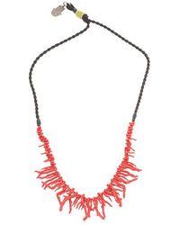 Valentino Garavani Men's Ty0j0m57dhc221 Multicolor Metal Necklace - Red