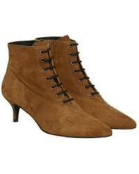 Gestuz Camel Suede Ankle Boots