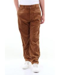 Carhartt Menson Pant Solid Colour With America Pocket - Brown