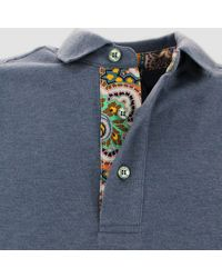 Etro Embroidered Polo Shirt - Blue