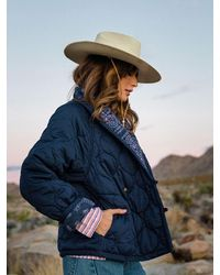 Xirena The Harlowe Puffer Jacket In Palm Desert - Blue