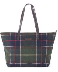Barbour Witford Tartan Tote Bag Multi - Multicolor