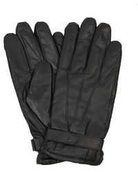 Barbour Burnished Leather Thinsulate Glove - Black