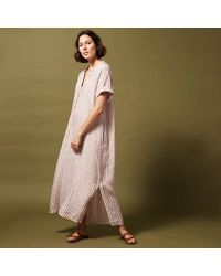 Hartford Raglan Striped Linen Dress - Multicolour