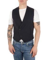Emporio Armani Men's A1j65001504922 Blue Wool Vest