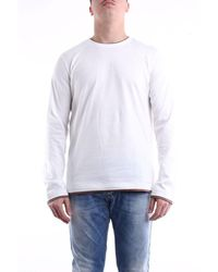 Eleventy T-shirt With Long Sleeves In - White