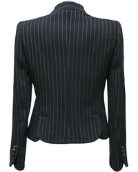 Armani Chalk Stripe Skirt Suit - Black