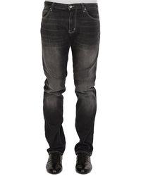 Armani Emporio Armani Distressed Jeans - Black