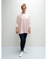 Chalk Clara V-neck Jumper - Pink