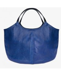 Ba&sh Pillow Leather Bag In Cobalt By Penelope Chilvers - Blue