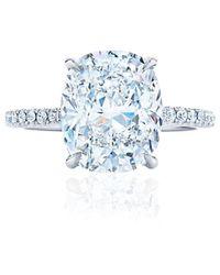 Kwiat Cushion Cut Engagement Ring - 2.22ctw - Metallic