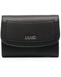 Liu Jo Tri-fold Logo Wallet - Black