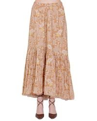 Mes Demoiselles Pleated Floral Pattern Skirt - Yellow