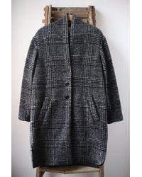 Étoile Isabel Marant Gabriel Black Wool Coat
