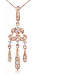 V Jewellery Rose Lorelei Pendant - Metallic
