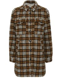 Part Two Kerstin Checked Coat - Brown