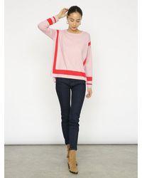 Cocoa Cashmere Cressida Pink Sweater