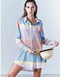 Jessica Russell Flint Impala Tulip Boyfriend Shirt - Multicolour