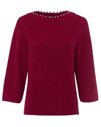 Riani Amerena Ribbed Knit Sweater - Red