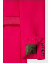 Paul Smith - Woven Coat Pink - Lyst
