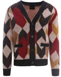 Roberto Collina Colour Wool Cardigan - Multicolour