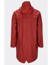 Rains - Long Scarlet Jacket - Lyst