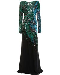 Roberto Cavalli Long Embroidered Dress - Multicolour