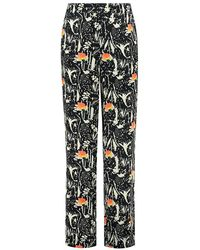 POM Amsterdam Roses Trousers - Blue