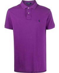 Ralph Lauren Men's 710795080030 Purple Cotton Polo Shirt