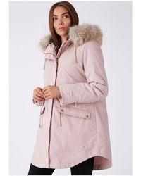 Parka London - Caversham Faux Fur Lined Parka - Lyst