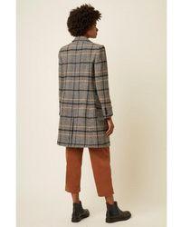 Great Plains Black Combo Charlize Check Coat - Multicolor