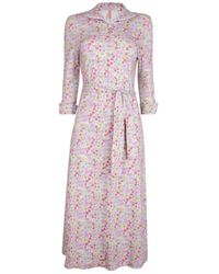 The West Village Shirt Dress Multi Meadow - Pink