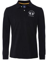 La Martina Long Sleeve Milo Polo Shirt Colour: Black