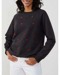 South Parade Rocky Sweater Mini Hearts - Black