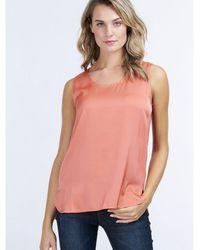 Repeat Cashmere Outlet Silk Camisole - Orange