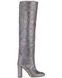 Pura López Eclipse Sequins Over-the-knee Boots - Metallic