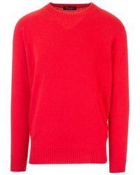 Loro Piana Men's Fai1991303d Red Cashmere Sweater