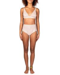 Oséree Sequinned Bikini - Pink