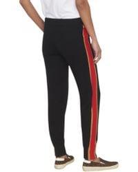 Bella Freud Billie Cashmere Track Pants Black