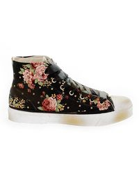Beverly Hills Polo Club Fabric Hi Top Trainers - Black