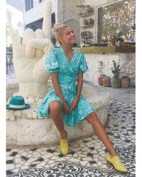 Feather & Find Genova Wrap Dress - Blue
