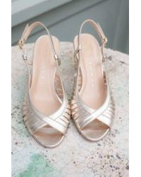 Petite Mendigote Renato Foil Champagne Shoes - Metallic