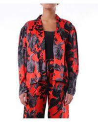 Dries Van Noten Bi-color Blouse With Long Sleeves - Red