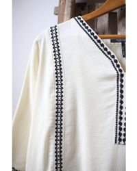 Scotch & Soda - Antique White Embroidered Dress - Lyst