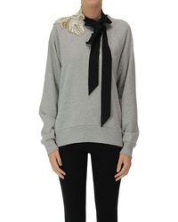 Dries Van Noten Embellished Sweathshirt - Gray