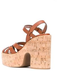 Miu Miu Platform Sole Sandals - Brown