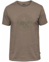 Fjallraven Fjallraven Lagerplats T-shirt Dark Sand - Brown