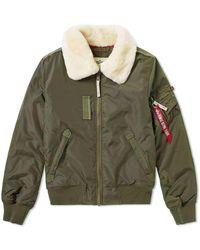 Alpha Industries - Flight Jacket Injector Iii Dark Green - Lyst
